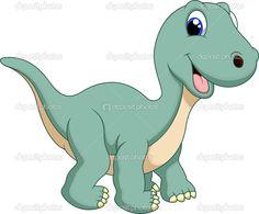 Мультфильм динозавра - Векторная картинка: 53086951