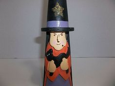 Vintage Holiday, Cannon Falls, Carved Wood, Halloween Decorations, Witch, Carving, Ebay, Wood Carvings, Witches