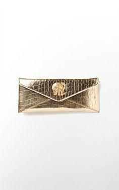 gold elephant clutch.