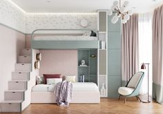 vibrant Pink Bedrooms With Images, Tips And Accessories To Help You Decorate Yours Welcome to a new collection of interior designs featuring 16 Awe-Inspiring Contemporary Bedroom Designs That You Must See Right Now. Kids Bedroom Designs, Bunk Bed Designs, Room Design Bedroom, Kids Room Design, Girls Bedroom, Bedroom Decor, Luxury Kids Bedroom, Shabby Bedroom, Pretty Bedroom