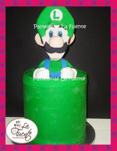 Pastel de Luigi de Super Mario Bros