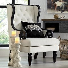 Wingback Chair from Through the Country Door® - order this for formal living room Teal Chair, Modern Lodge, Mid Century Armchair, Gray Interior, Simple Interior, Formal Living Rooms, Outdoor Living, Accent Chairs, Wingback Chairs