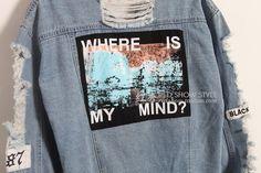 $23,50  Denim Jacket - http://ali.pub/wzxm6 AliExpress style cool nice clothing clothes fashion placebo where is my mind tumblr nice