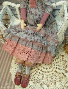 ГОТОВАЯ РАБОТА ЦЕНА 6 500р.  Купить Тильду Кукла по мотивам Тильда, красавица Натэлла ! Девочка из коллекции кукол - Дамочк...