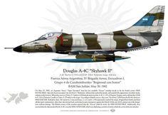 "Douglas A-4C Skyhawk II A-4C BuNo C-318 c/n12749 Pilot Teniente Isaac Alferez Fuerza Aérea Argentina, IV Brigada Aerea, Escuadron I, Grupo 4 de Cazabombardeo ""Regresad con honor"" BAM San Julián. May 30, 1982"