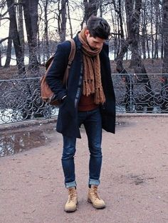 Gray winter casual look !