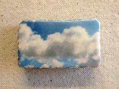 encaustic on Handmade Cast Adobe Tile  Clouds by langartworks, $40.00 www.facebook.com/jamielangartist