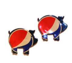 2 Pepsi Cola   PIG MAGNETs  Recycled Soda Pop by PopCanCreations, $4.00