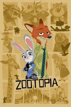 Zootopia Poster Disney 2016 by Joe Dunn Disney Pixar, Deco Disney, Disney Films, Disney And Dreamworks, Disney Animation, Disney Love, Disney Art, Animation Movies, Animated Movie Posters