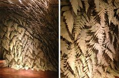 these paper ferns are amazing! Artemis Windows- Madison Ave : Bramble Workshop