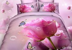 Love you red roses green leaf white bedding set cotton wedding home bedclothes duvet/blanket cover bed Butterfly Bedding Set, Pink Bedding Set, 3d Bedding Sets, Girls Bedding Sets, Queen Bedding Sets, White Bedding, Pink Butterfly, Bedroom Sets, Butterfly Bedroom