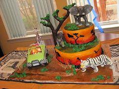 Best Image of Safari Birthday Cake . Safari Birthday Cake Safari Cakes Decoration Ideas Little Birthday Cakes Jungle Birthday Cakes, Cool Birthday Cakes, Animal Birthday, Birthday Cake Toppers, Birthday Ideas, Birthday Boys, Zoo Animal Cakes, Africa Cake, Safari Baby Shower Cake