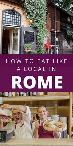 How can you go to Rome, Italy and NOT indulge in all the delicious food? Here's how to eat like a local in Rome. #romefoodguide #romeitaly #italytravel