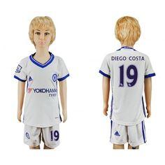 Chelsea Fotbollskläder Barn 16-17 #Diego Costa 19 TRödjeställ Kortärmad,248,15KR,shirtshopservice@gmail.com