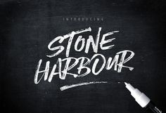 Introducing Stone Harbour! ...a punchy new Dry Marker Script ..with loads of attitude and extras.