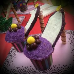 Stilleto High Heel Cupcakes made by: Renee Hillman Events