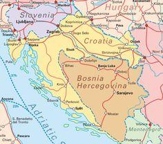 Interrail Routes for Croatia Map