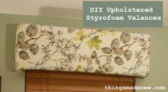 DIY Upholstered Styrofoam Valances