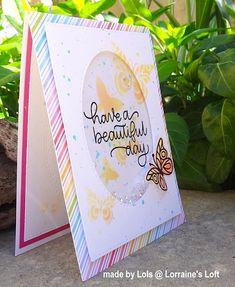 Lorraine's Loft: Simon Says Stamp April Card Kit + step by step shaker