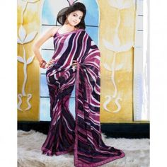 Dual shade in Black & Magenta with fancy prints for $30