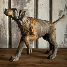 Hunting Hound Dog Statue