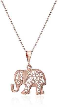 Gold Diamond-Cut Elephant Pendant Necklace, -- Click image for more details. Elephant Jewelry, Elephant Necklace, Elephant Gifts, Initial Necklace, Pendant Necklace, Necklaces With Meaning, Necklace For Girlfriend, Rose Gold Jewelry, Gold Jewellery