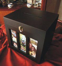 Baúl para sobres de dinero, incluye album de firmas