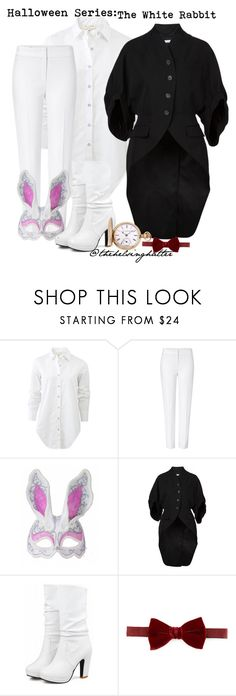 """""""Costumes// The White Rabbit"""" by thehelsinghatter ❤ liked on Polyvore featuring rag & bone, ESCADA, Masquerade, Givenchy, Lanvin and Elgin"""
