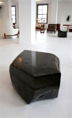 Polished coal coffee tables