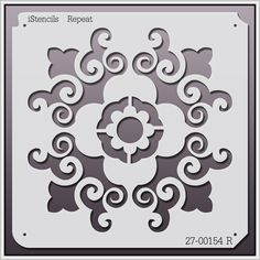 All Over Repeat Stencils Wall Stencil Patterns, Stencil Diy, Stencil Designs, Flower Stencils, Diy And Crafts, Paper Crafts, Printable Designs, Fabric Painting, Paper Cutting
