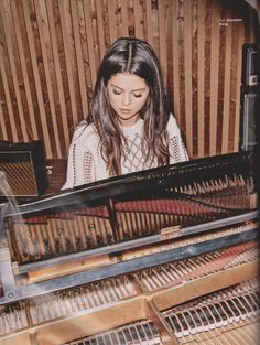 Open with Selena) I was practicing my piano and singing, for a song I wrote, when you walk in and hear me. You...