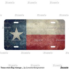 Texas state flag vintage retro License Plates - Car Floor Mats License Plates, Air Fresheners, and other Automobile Accessories