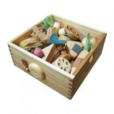 Natural Wood Kitchen Play Set