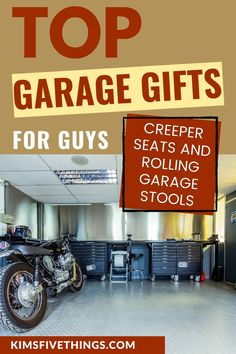 Garage Gifts for Guys - rolling stools and creeper seats for garages. A heavy duty rolling stool is one of those items that are cool things to have in your garage. Mom Birthday Crafts, 90th Birthday Gifts, Birthday Gift Baskets, Stool With Wheels, Candy Bar Posters, Candy Cards, Top Gifts, Creeper, Garages