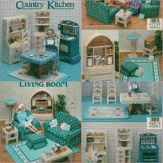 Image result for free plastic canvas patterns for barbie furniture