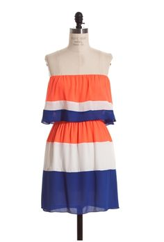 Orange & Blue Gator Gameday Dress