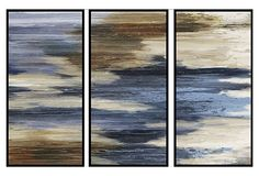 Abstract Formulation Triptych on OneKingsLane.com -- cool to add some color, but still keep it natural