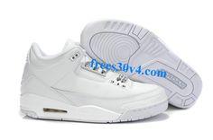 Air Jordan 3 Retro White White Basketball Shoes for sale at Air Jordan 3 Retro online store