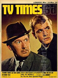 1960,s TV Times No Hiding Place Cover