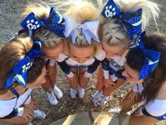 I LOVE the braids instead of the bumps. hairstyles Poofs, Bows, & Nike Pros # cute Braids for cheer Braided Cheer Hair, Cheer Ponytail, Braided Ponytail, All Star Cheer, Cheer Mom, Cheer Tips, Cheer Stuff, Cheer Hair Tutorial, Dance Hairstyles