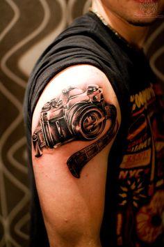 film strip tattoos | Camera And Film Strip Tattoo
