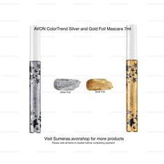 AVON ColorTrend Silver Foil and Gold Foil Mascara 7ml New Sealed - Select colour #Avon