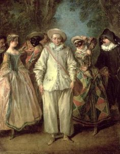 The Actors of the Commedia dell'Arte | High Quality Prints & Posters | PrintsPlace