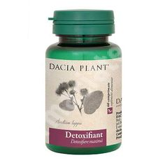 Detoxifiant, 60 comprimate, Dacia Plant[6421930300253] Allergies, Pharmacy, Varicose Veins, Plant