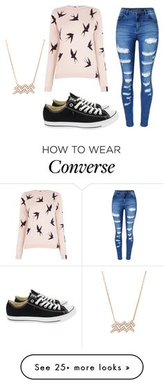 """""""Untitled #471"""" by idkwigd on Polyvore featuring Oasis, WithChic and Converse"""