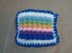 Rainbow Waffle Pot Holder Dual Layer by amydscrochet on Etsy, $5.00 #pcfteam