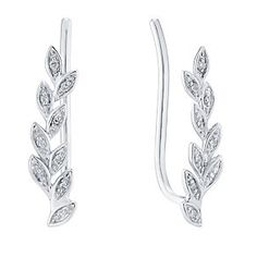 9ct White Gold Diamond Ear Climber - Product number 4931815