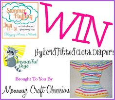 Summer Fluffin' Giveaway Hop: A Beautiful Skye Cloth Diaper Giveaway!