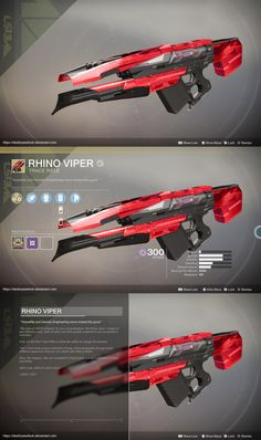 [D2 CONCEPT] Exotic Trace Rifle Concept: Rhino Viper by BanditNation