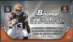 2012 Bowman Sterling Football Cards Hobby Box - New!! $283.95